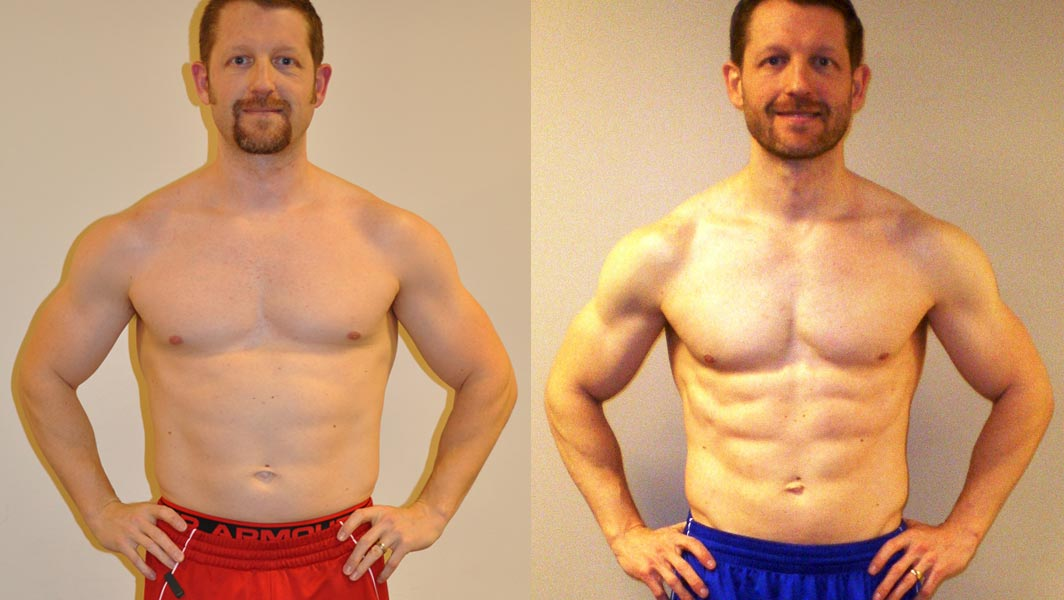 Before and after the 8-week challenge
