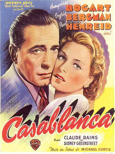 ​The original French Casablanca movie poster (1942).​