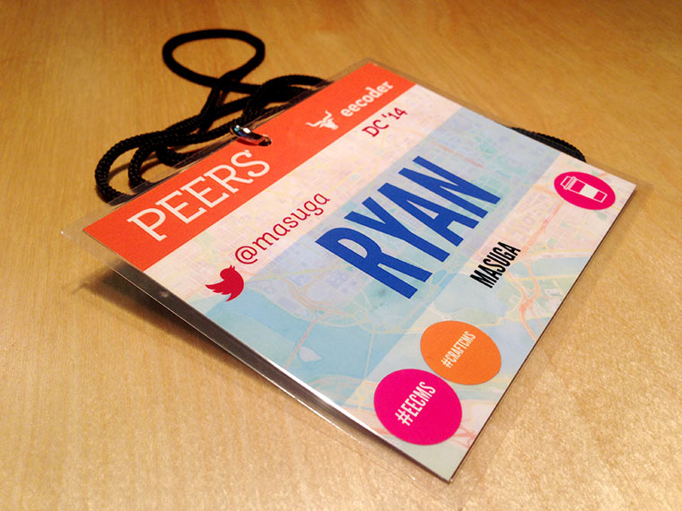 Lanyard for Peers 2014 in Washington DC